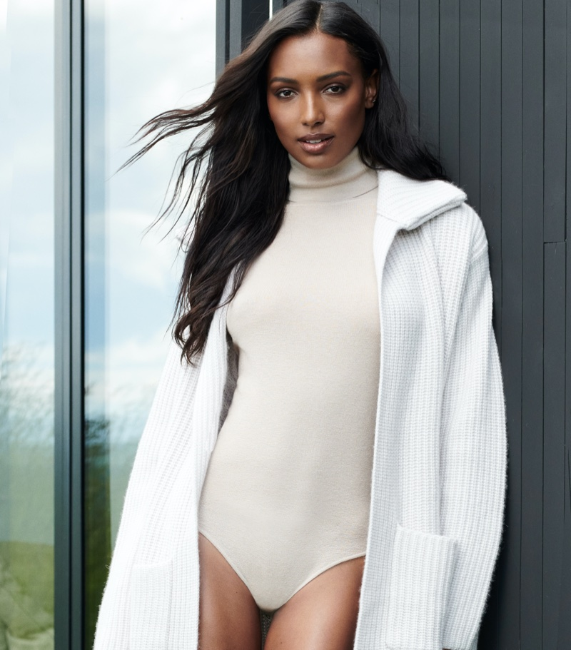 Jasmine Tookes stars in NAKEDCASHMERE NAKED in October 2021 campaign