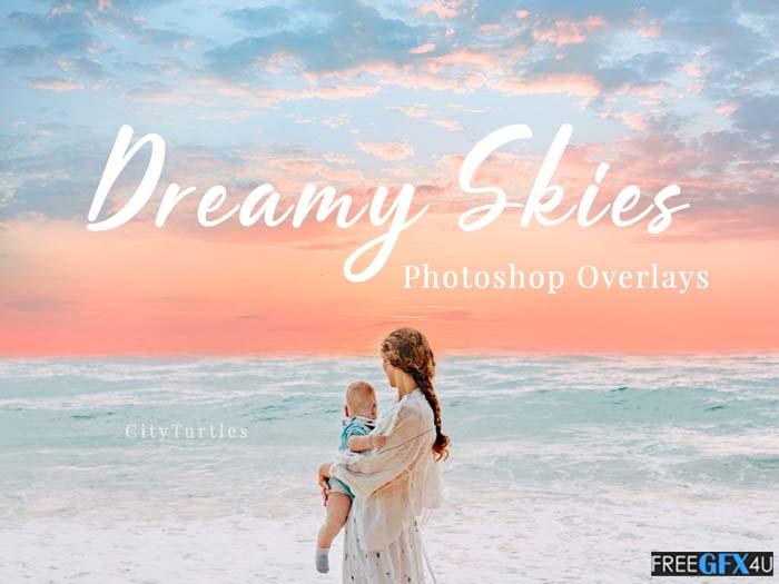 30 Dreamy Pastel Sky Overlays