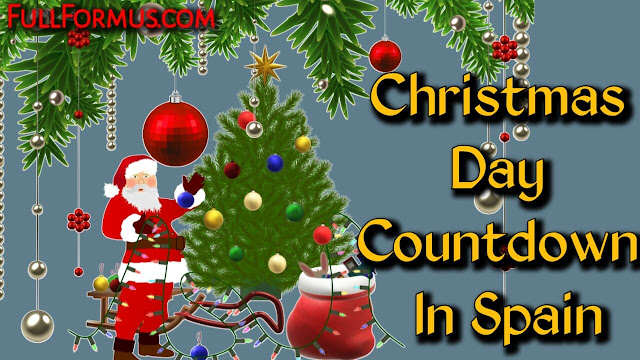 Christmas Day in Spain Countdown 2021