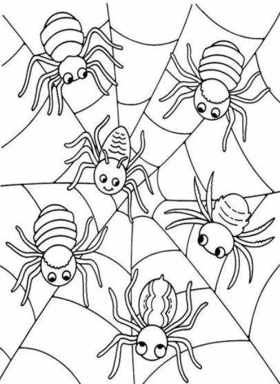 Spider Baby Printable Coloring Pages