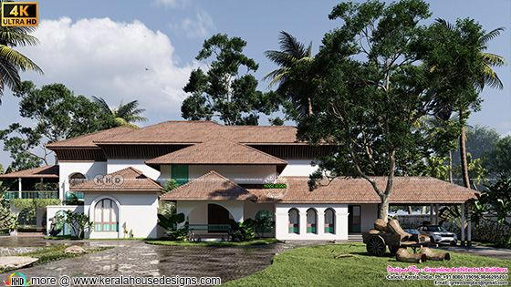 """Traditional Kerala  home named """"Himam' (Snow)"""