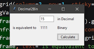 Decimal to binary converter with python