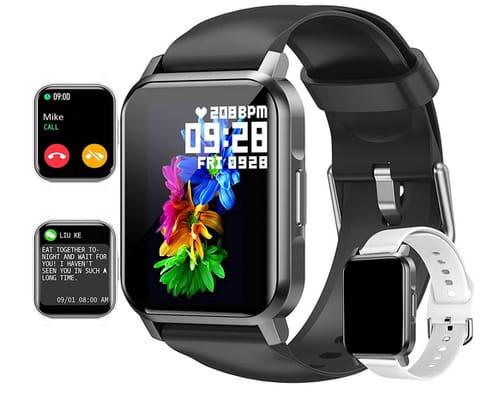 Amszke Full Touch Screen Fitness Tracker Waterproof Smartwatch