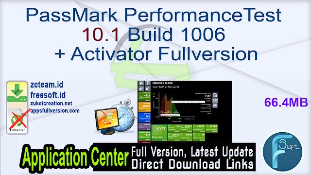 PassMark PerformanceTest 10.1 Build 1006 + Activator Fullversion