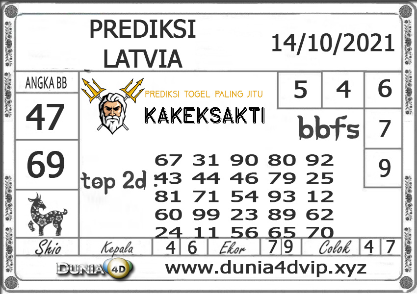 Prediksi Togel LATVIA DUNIA4D 14 OKTOBER 2021