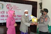 Dalam Rangka PPKM Level 3 Melalui Polsek Jajaran dan Ketua Bhayangkari Ranting Polsek Salurkan Bansos