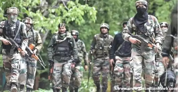 Indian Security Personnel Returning from a recce