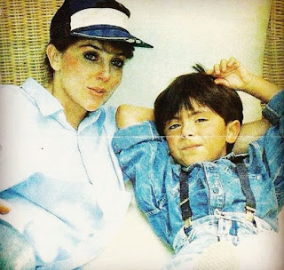 Michel Saenz Castro's childhood picture with his mother Veronica
