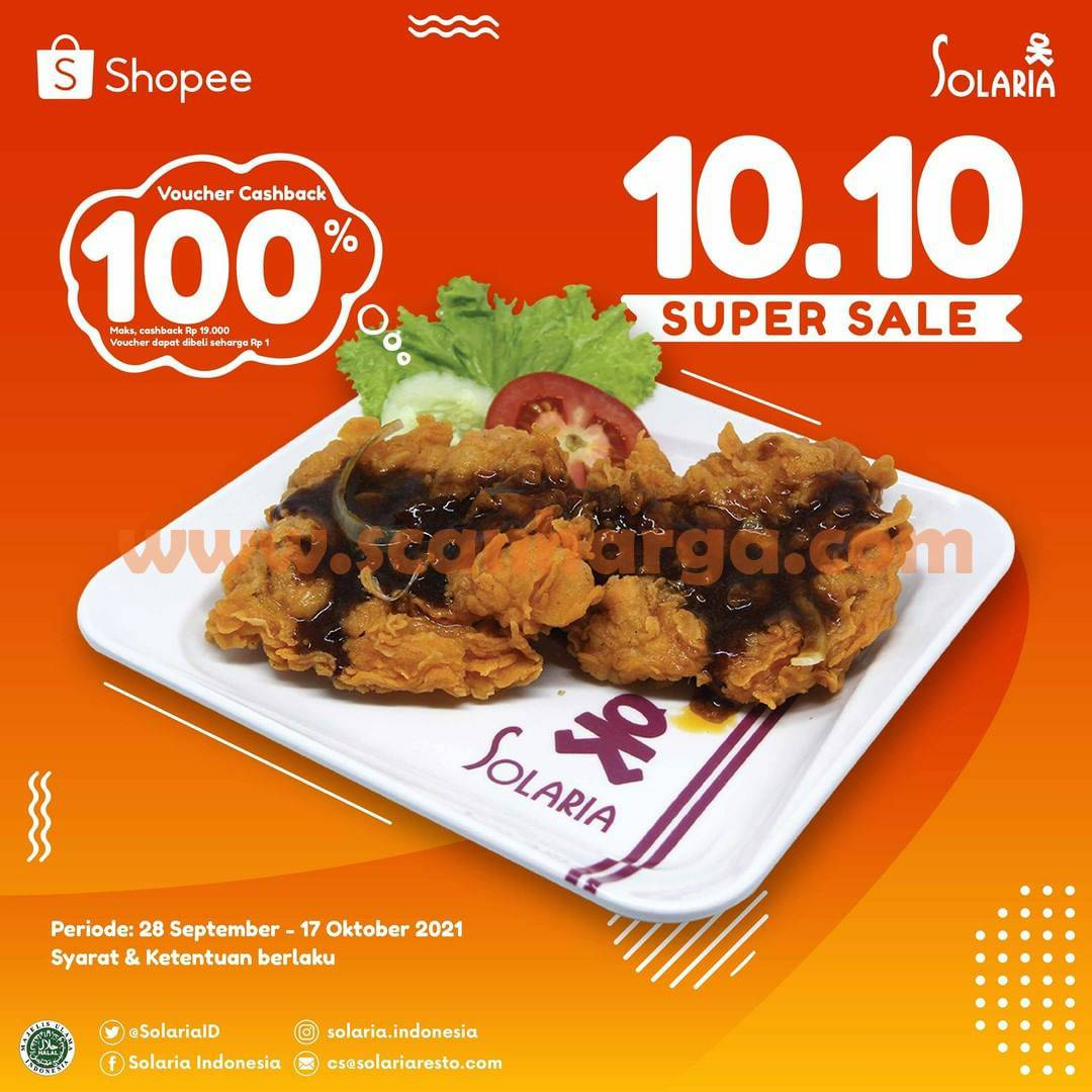 Promo SOLARIA Voucher Cashback ShopeePay 100% hanya Rp. 1,-