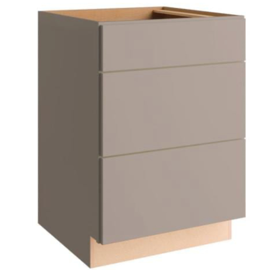 gray base drawer cabinets