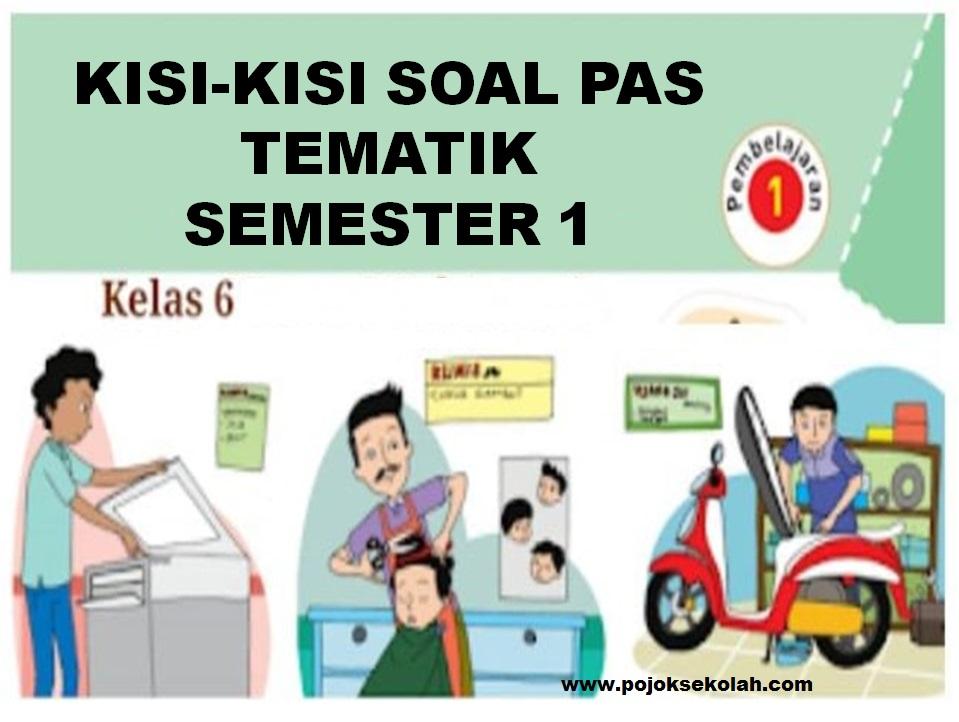 Kisi-kisi Soal PAS Tematik Kelas 6 SD/MI