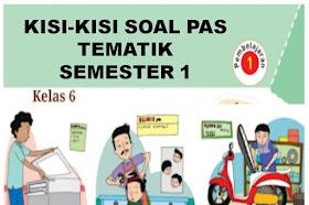 Kisi-kisi Soal PAS Tematik Kelas 6 SD/MI Semester 1 Kurikulum 2013 Tahun 2021-2022