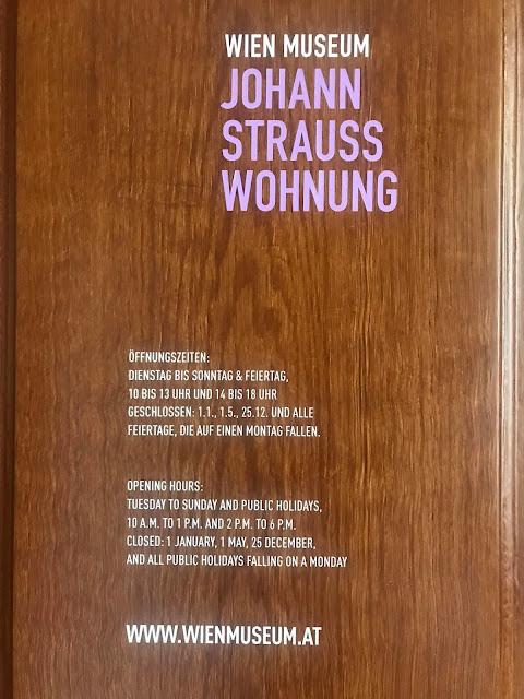Johann Strauss Apartment opening hours