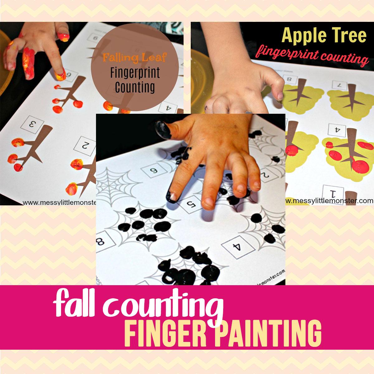 fingerprint counting activities for preschoolers