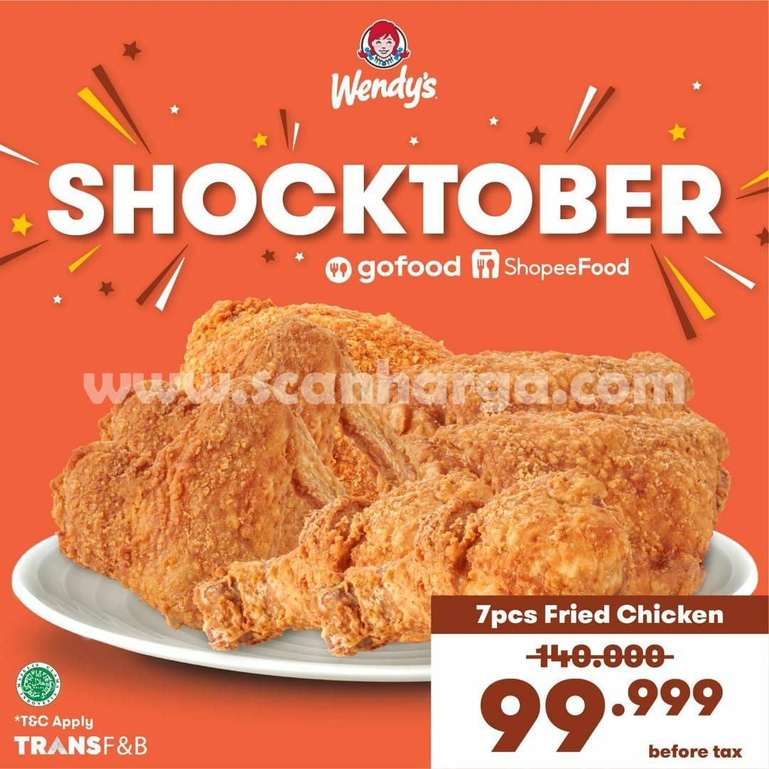 Promo WENDY'S SHOCKTOBER 7 Pcs Fried Chicken hanya Rp.99.999