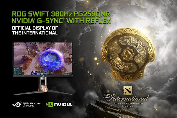 ROG Swift 360 Hz PG259QNR é o monitor oficial do 10º torneio internacional de DOTA 2