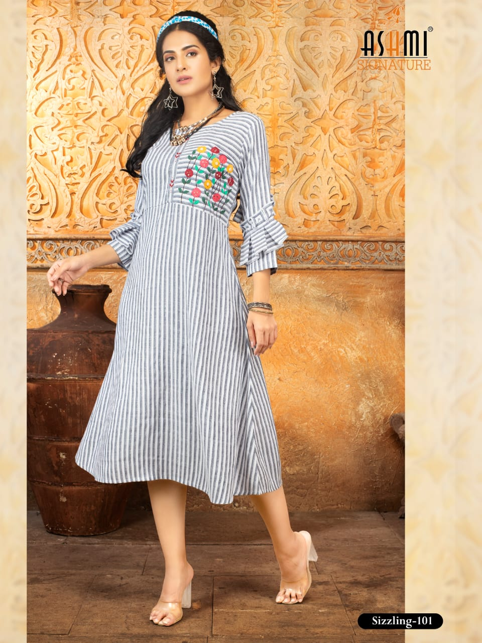 Ashmi Sizzling Knee Length Kurtis Catalog Lowest Price