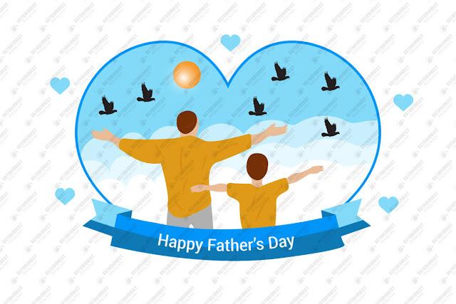 celebration illustration for dad free vector download