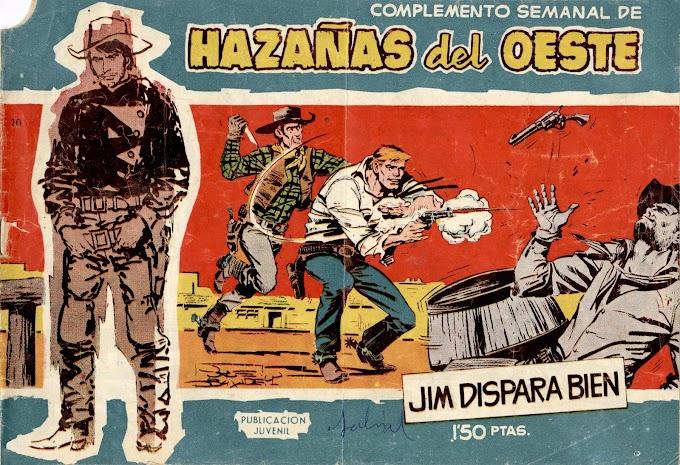 HAZANAS DEL OESTE SERIE AZUL-20 - Jim Dispara Bien  -LEITURA ONLINE DE QUADRINHOS EM ESPANHOL