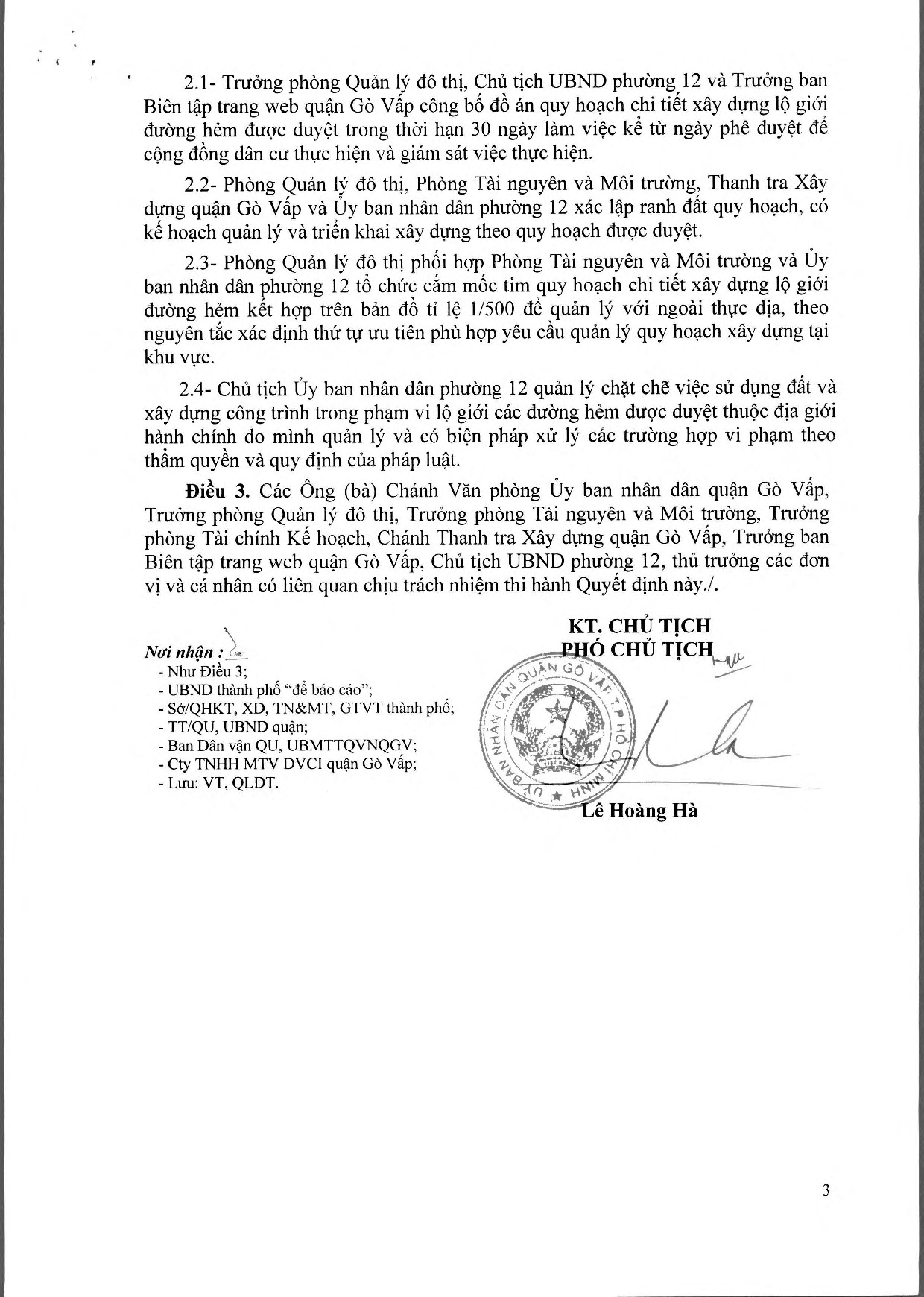 Quyết định số 5483/QĐ-UBND quy hoạch lộ giới đường hẻm tỉ lệ 1/500 phường 12 quận Gò Vấp