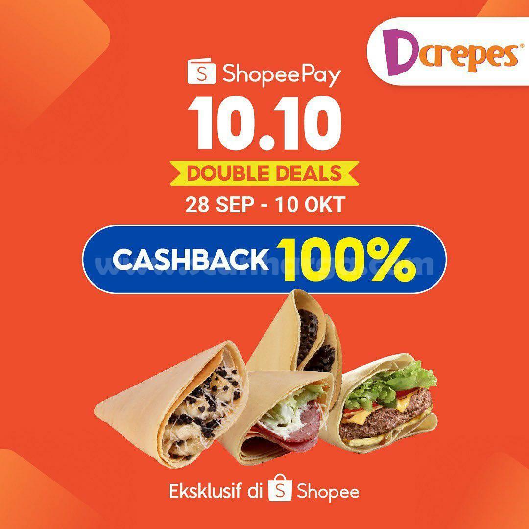 Promo Dcrepes 10.10 ShopeePay Double Deals – Voucher Cashback 100% dari Shopee