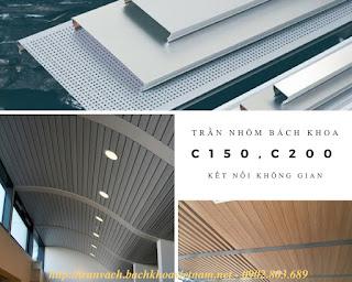 Giá vật tư và thi công trọn gói trần nhôm C150, C200, C300