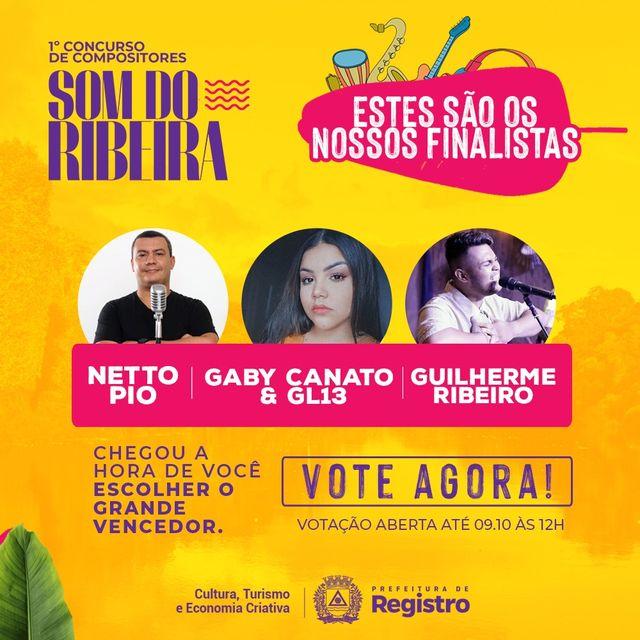 Concurso Som do Ribeira anuncia finalistas e público irá escolher o vencedor