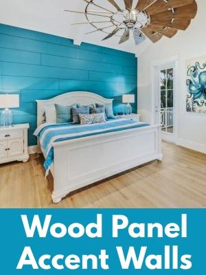 Wood Panel Accent Wall Design Ideas Shiplap Walls Coastal Theme Decor