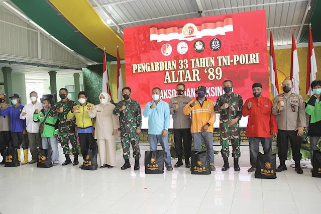 Hadiri Baksos, Amsakar Apresiasi TNI Polri yang Telah Bertungkus Lumus Dalam Penanganan Covid-19