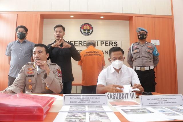 Ditreskrimsus Polda Kepri Amankan Dua Tersangka Kasus Tindak Pidana Korupsi Pengadaan Mesin Pengolahan Tepung Ikan