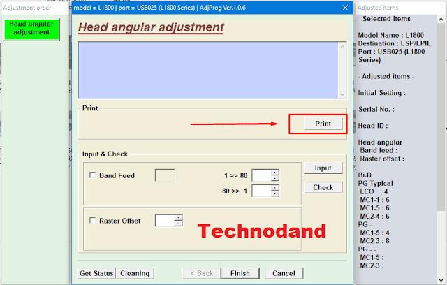 print hasil alignment printer epson