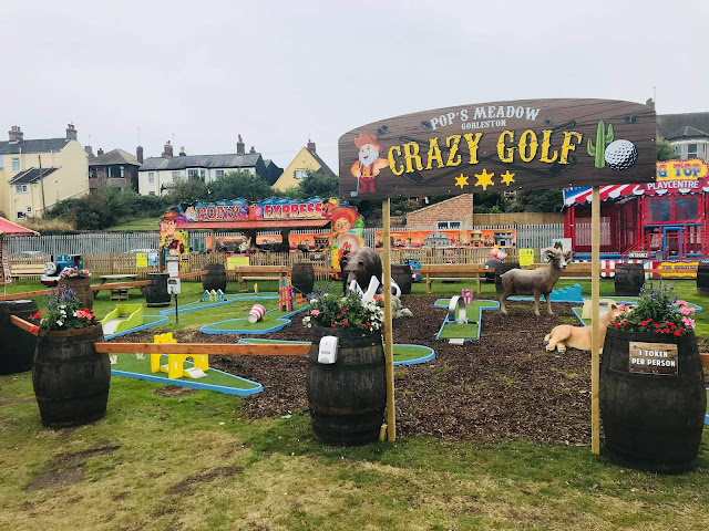 Crazy Golf at Pop's Meadow in Gorleston-on-Sea. Photo by Cherise Gray, October 2021