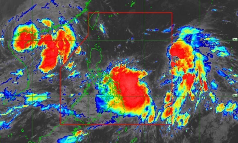 Satellite image of Bagyong 'Maring' and 'Nando'