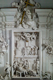 Detail from Giacomo Serpotta's stucco work in the Oratory