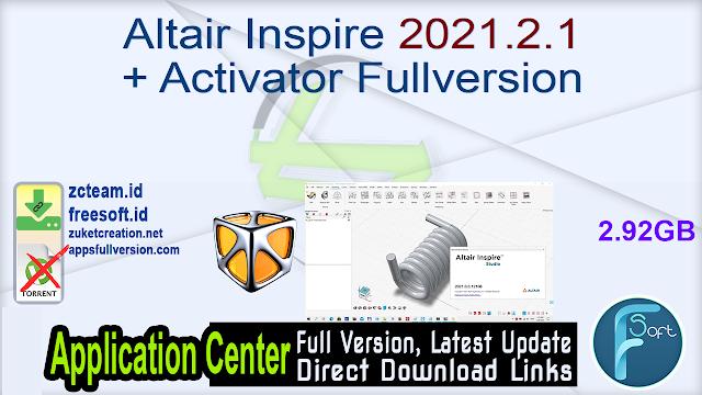 Altair Inspire 2021.2.1 + Activator Fullversion