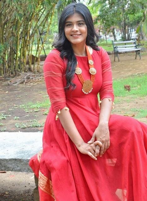 Actress Hebah Patel Recent Stills In Red Dress Navel Queens