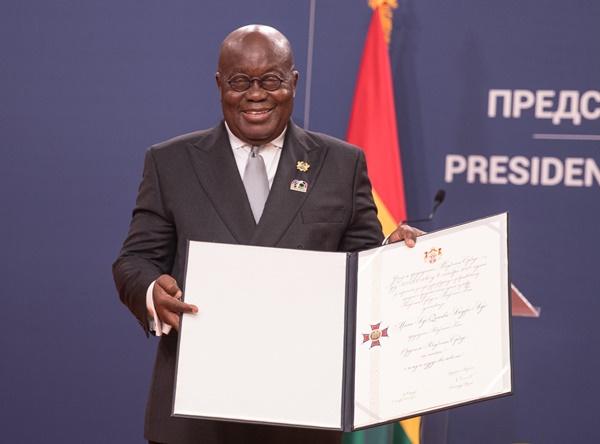 President Akufo-Addo Receives Serbia's Highest National Award