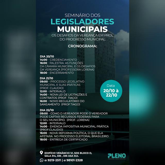 Em Brasília, vereadora Carmélia é recebida por deputados federais e participa de Seminário de Legisladores Municipais*