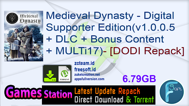 Medieval Dynasty – Digital Supporter Edition (v1.0.0.5 + DLC + Bonus Content + MULTi17) (From 2.9 GB) – [DODI Repack]