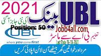 Jobs in Pakistan bank - UBL Jobs 2021