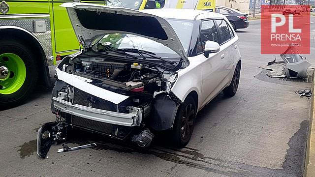 Osorno: accidente de tránsito deja un lesionado y detenido