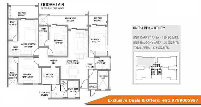Godrej Air Gurgaon Floor Plan