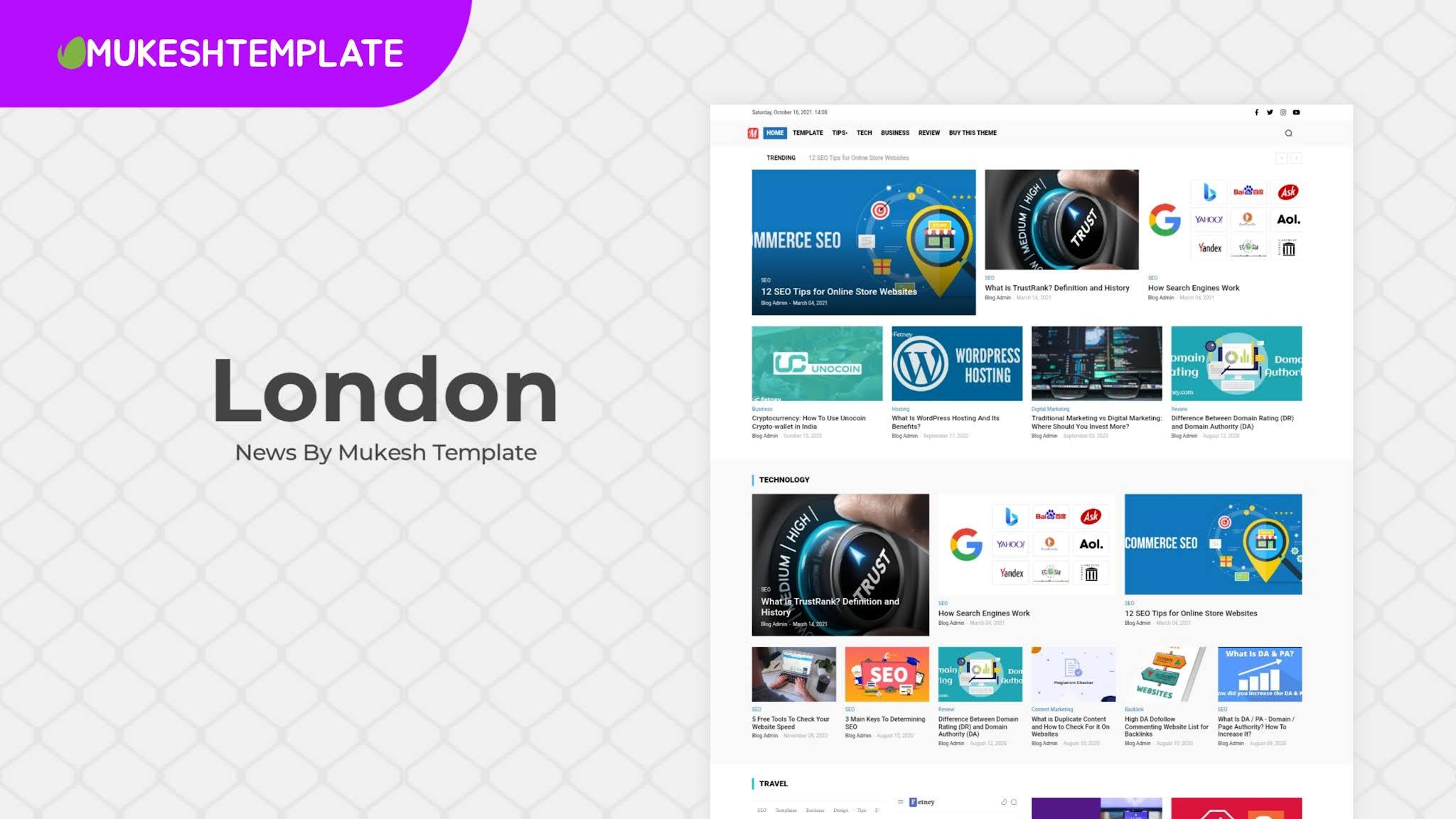 London News - Premium News & Magazine Blogger Template