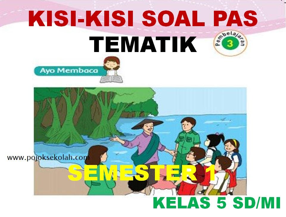 Kisi-kisi Soal PAS Tematik Kelas 5 SD/MI