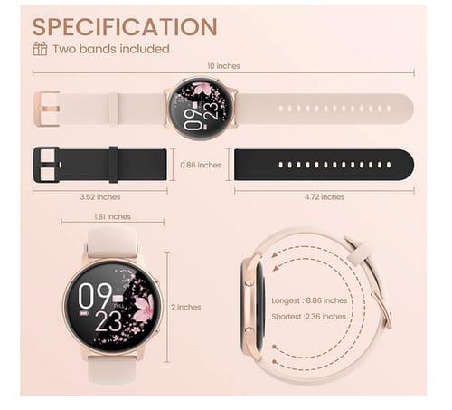 Lovtutu 2021 Version HD LCD Women Smart Watch