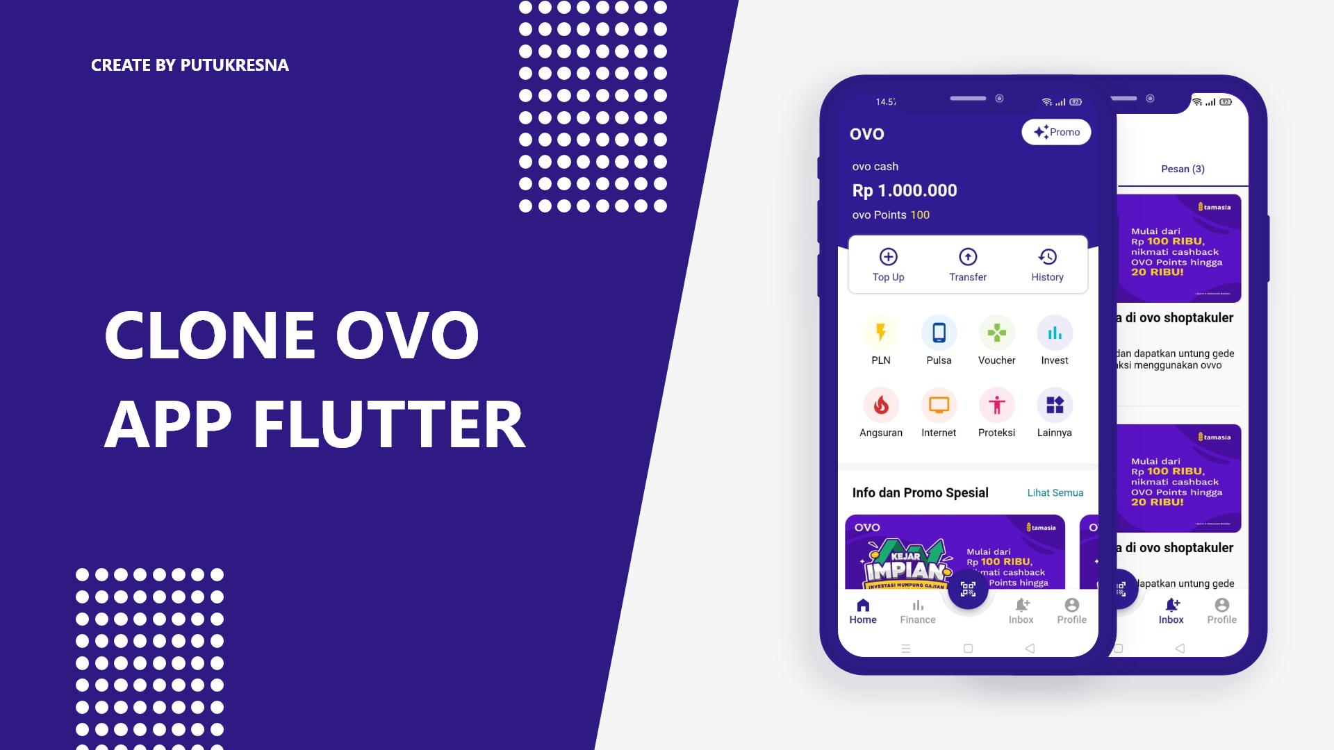 Clone OVO Apps Flutter Dart by putukresna
