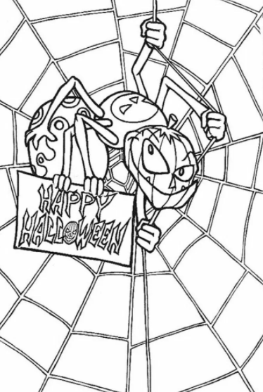 Spider Web Coloring Pages For Kids