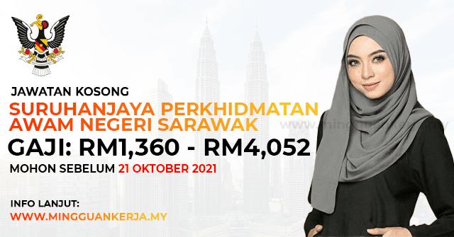 Jawatan Kosong Suruhanjaya Perkhidmatan Awam Negeri Sarawak ~ Gaji RM1,360 - RM4,052 / Minima SPM Layak Memohon. Khas kepada anda yang sedang mencari pekerjaan dan berminat untuk menjawat jawatan kosong terkini yang tertera pada halaman Mingguan Kerja.