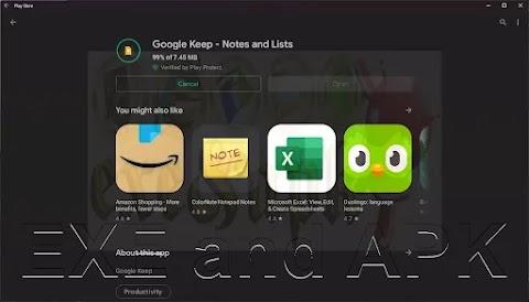 متجر Google Play مثبت على نظام التشغيل Windows 11