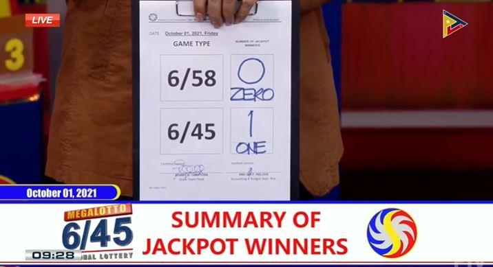 Bettor wins Php 9-M Mega Lotto jackpot